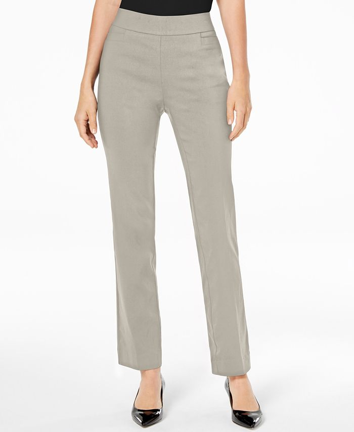 JM Collection - Pull-On Regular-Fit Pants