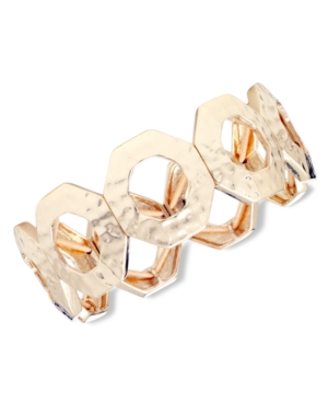 Nine West Bracelet, Gold Tone Circle Stretch Bracelet
