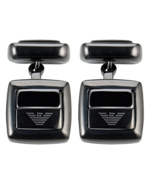 Emporio Armani Cuff Links, Black Ceramic Square Cuff Links EGS1457