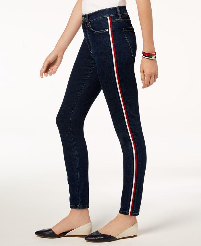 Tommy Hilfiger - Side-Stripe Skinny Jeans
