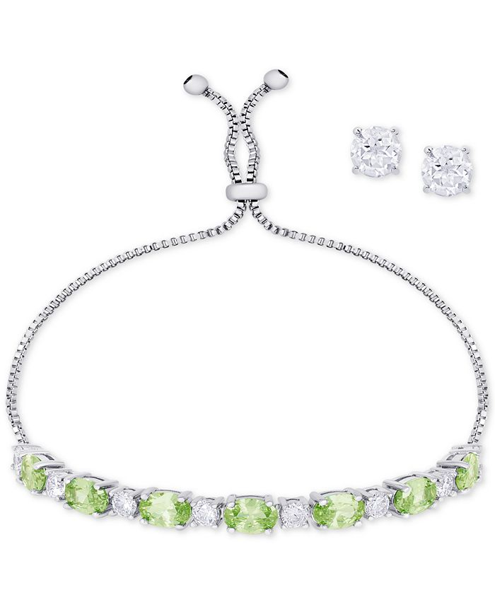Macy's - Birth Month Jewelry Set Collection in Fine Silver-Plate