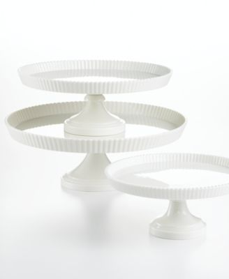 "Martha Stewart Collection 12"" Pie Crust Cake Stand"