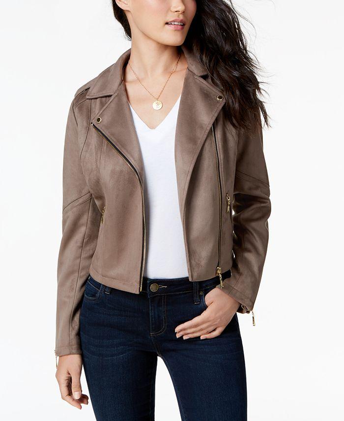 Jou Jou - Faux-Suede Moto Jacket