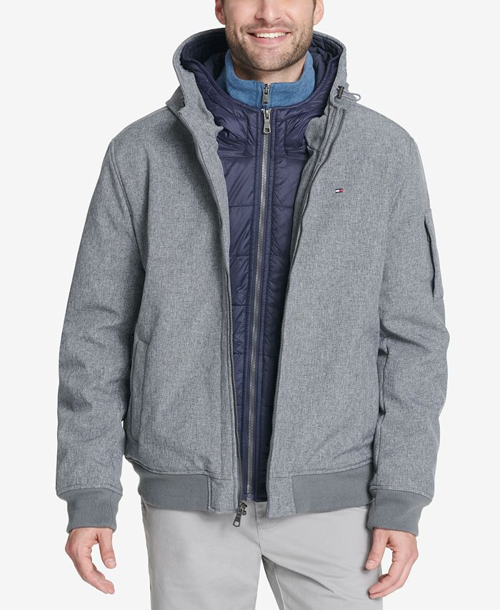 Tommy Hilfiger - Soft-Shell Bomber Hoodie Jacket