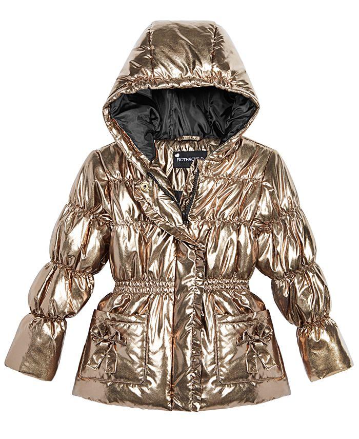 S Rothschild & CO - Little Girls Hooded Metallic Puffer Jacket