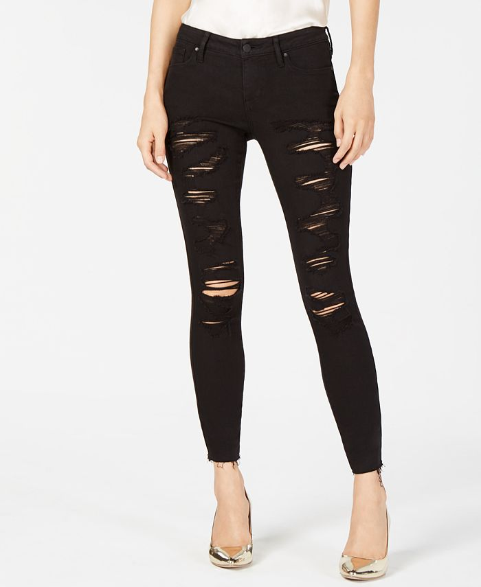 Kendall + Kylie - The Ultra Babe Perfect Ripped Mid-Rise Jeans