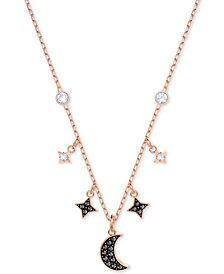 "Swarovski Two-Tone Crystal Moon & Stars 13-1/4"" Pendant Necklace"