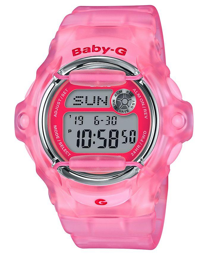 G-Shock - Women's Digital Pink Jelly Strap Watch 42.6mm