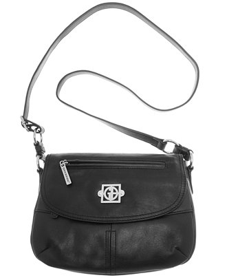 Giani Bernini Nappa Leather Saddle Flap Bag