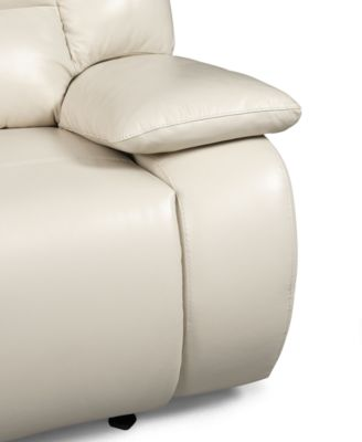 Franco Leather Reclining Sofa Double Power Recliner