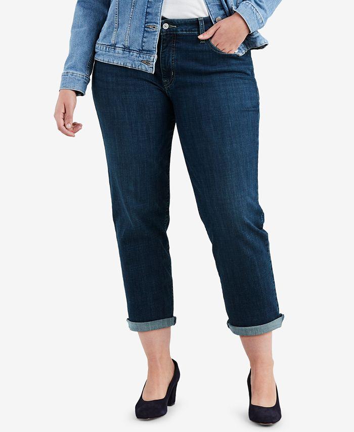 Levi's - Plus Size Stretch Boyfriend-Fit Jeans