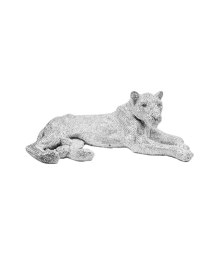 Moe's Home Collection - PANTHERA STATUE SILVER
