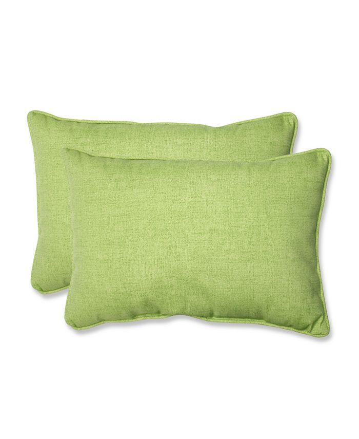 Pillow Perfect - Baja Linen Lime Over-sized Rectangular Throw Pillow (Set of 2)