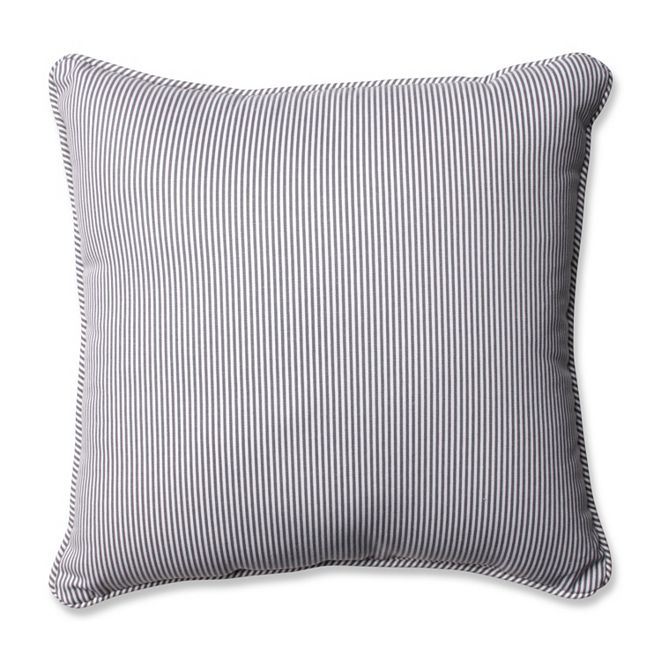 """Pillow Perfect Oxford Charcoal 18"""" Throw Pillow"""