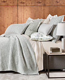 Hotel Collection Seaglass Cotton King Coverlet, Created for Macy's