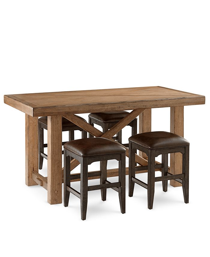 Furniture - Brewing Collection, 5-Pc.  Set (Gathering Table & 4 Lager Gathering Stools)