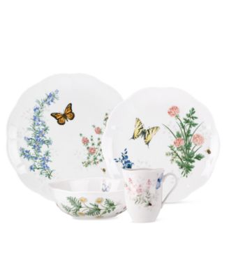 Lenox Dinnerware, Butterfly Meadow Herbs 16 Piece Set