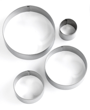 Martha Stewart Collection Professional Series Cookie Cutters, Set of 4 Circle Stainless Steel