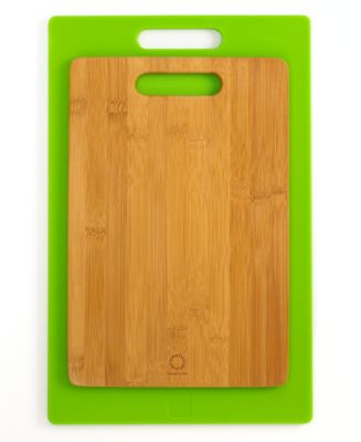Martha Stewart Collection Cutting Boards, Set of 2 Bamboo and Poly