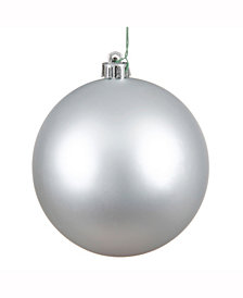"Vickerman 10"" Silver Matte Ball Christmas Ornament"