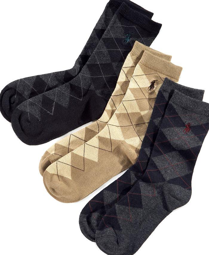 Polo Ralph Lauren - Little Boys' and Boys' 3 Pack Argyle Socks