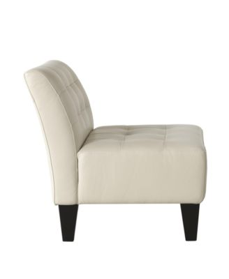 orso leather armless living room chair - furniture - macy's