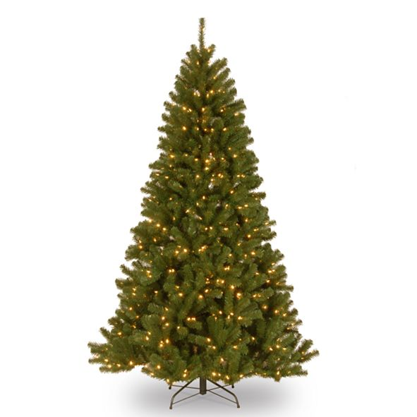 National Tree Company National Tree 7' North Valley Spruce Hinged Tree with 500 Clear Lights