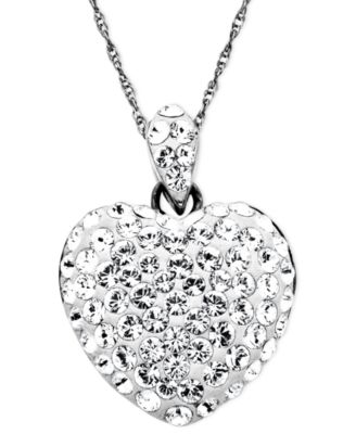 Kaleidoscope sterling silver necklace crystal heart pendant with kaleidoscope sterling silver necklace crystal heart pendant with swarovski elements mozeypictures Images