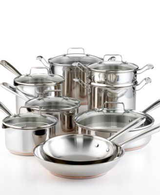 Emeril by All-Clad Stainless Steel Copper 14 Piece Cookware Set