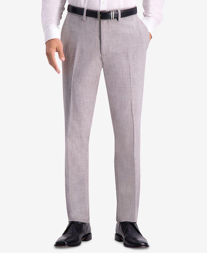 Kenneth Cole Reaction - Men's Slim-Fit Stretch Faux Flannel Dress Pants