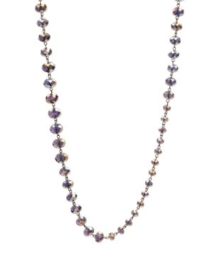 Kenneth Cole New York Necklace, Purple Faceted Glass Station Necklace