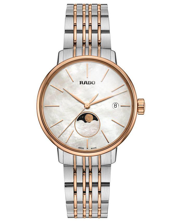 Rado - Women's Swiss Coupole Classic Two-Tone PVD Stainless Steel Bracelet Watch 34mm