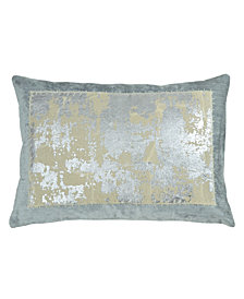 Michael Aram Linen Distressed Metallic Lace Pillow