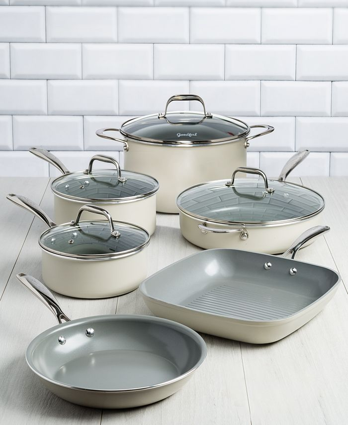 Goodful - 10-Pc. Ceramic Cookware Set
