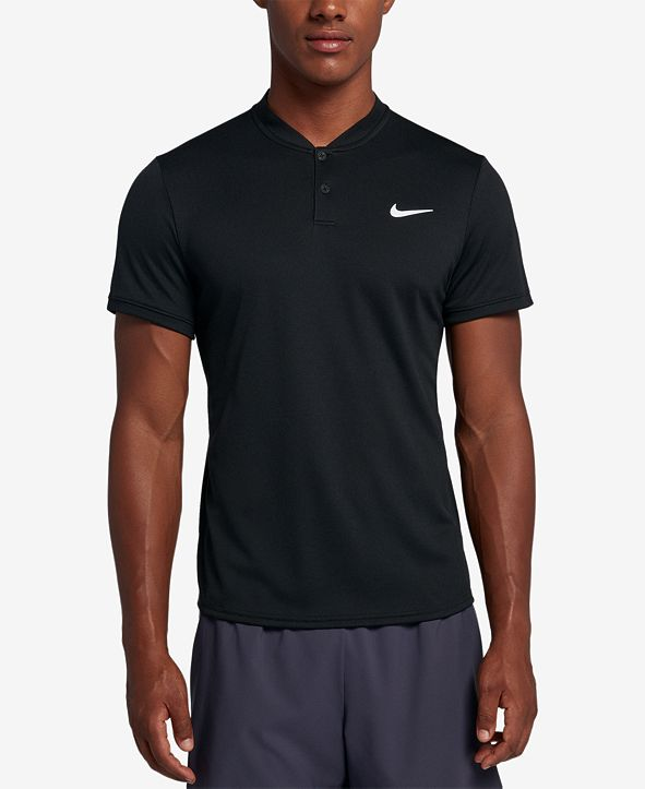Nike Men's Court Dry Blade-Collar Tennis Polo