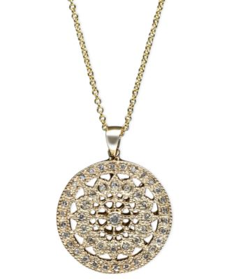 Effy diamond disc pendant necklace 14 ct tw in 14k white or effy diamond disc pendant necklace 14 ct tw in 14k white or yellow gold aloadofball