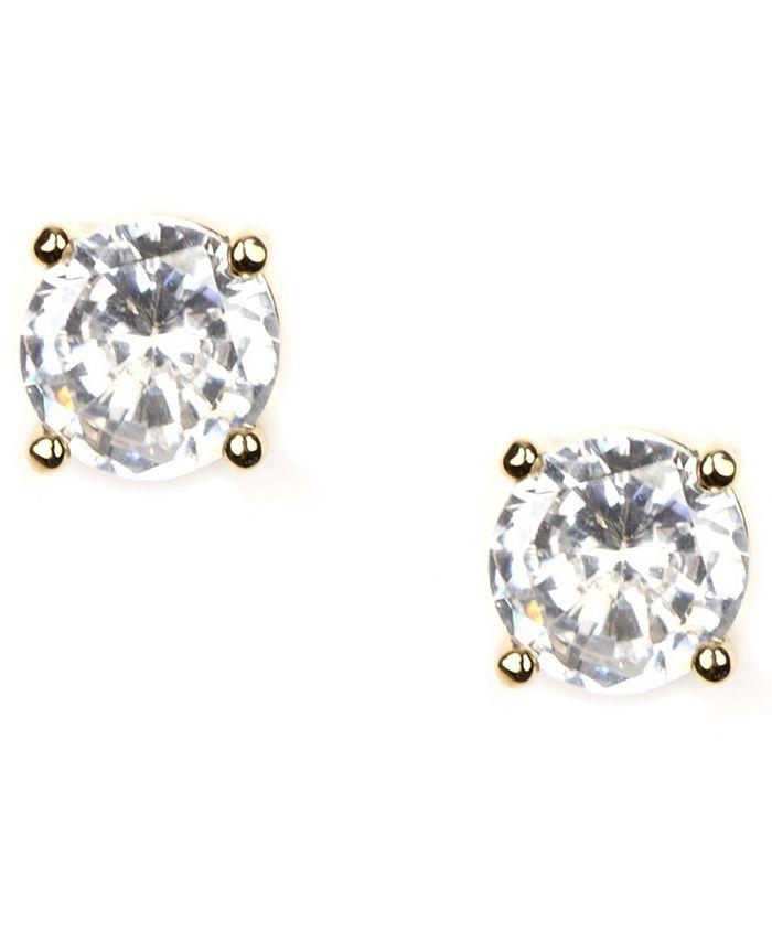 Givenchy - Earrings, Gold-Tone Crystal Stud Earrings