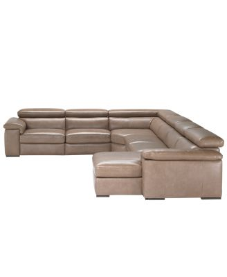 Elegant Gavin Leather 6 Piece Sectional Sofa (One Arm Chair, 3 Armless Chairs