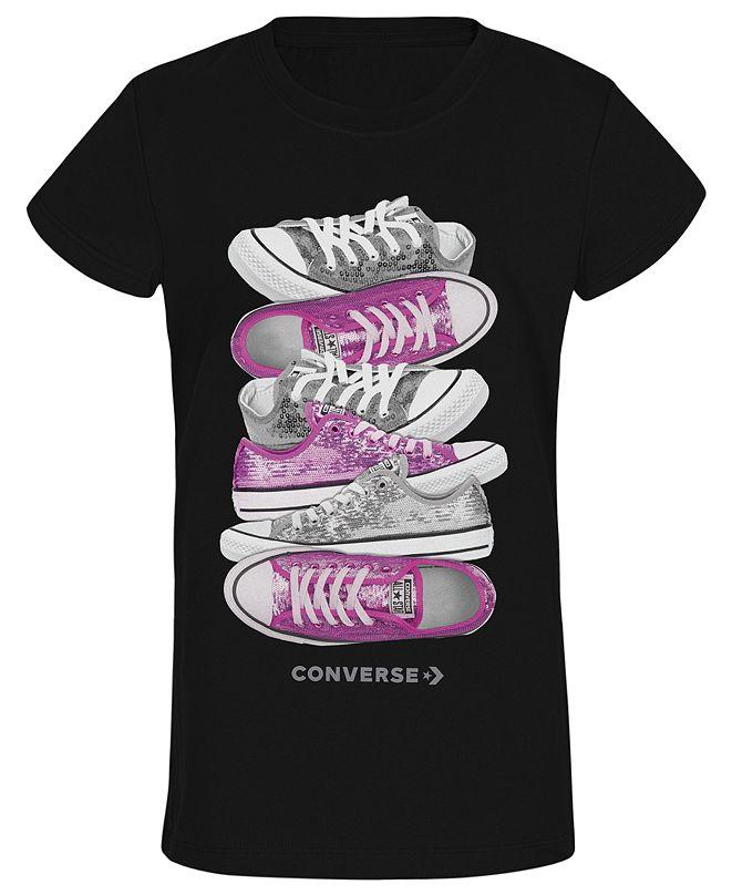 Converse Big Girls Sneaker-Print T-Shirt