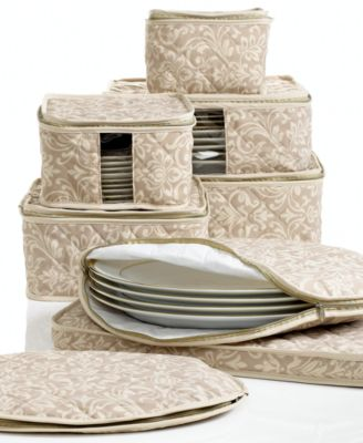 Homewear Fine China Storage Set, 8 Piece Hudson Damask