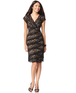 Buy macys & suits - Marina Dress, Cap Sleeve Lace Cocktail Dress