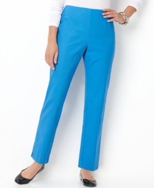 Charter Club Pants, Tummy Panel Straight Leg Ankle Trousers