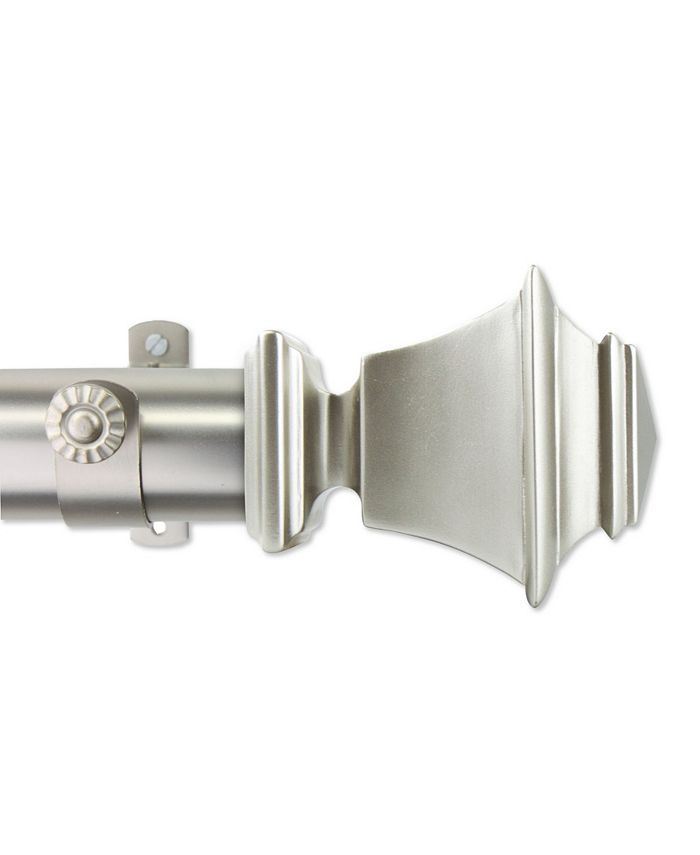 """Rod Desyne - Bach 1.5"""" Custom Cut Length Drapery Rod - 24Ft Satin Nickel"""