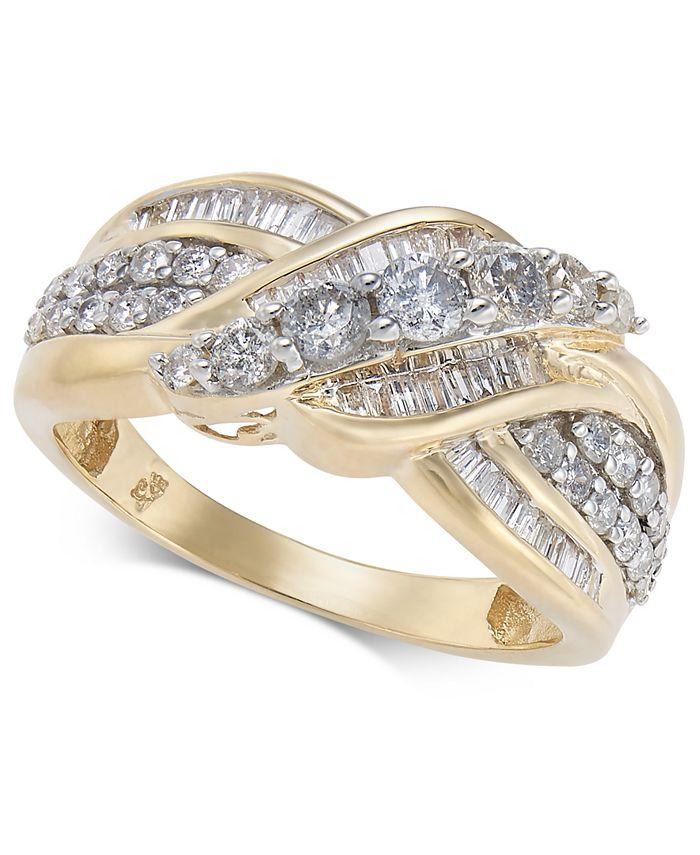 Macy's - Diamond Overlap Cluster Ring (1 ct. t.w) in 14k Gold or White Gold