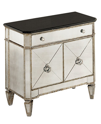 Marais Mirrored Small Nightstand Chest Furniture Macy S