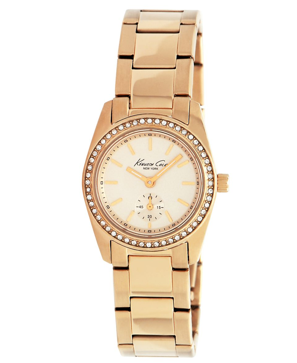 Kenneth Cole New York Watch, Womens Rose Gold Ion Plated Stainless Steel Bracelet 34mm KC4791   Watches   Jewelry & Watches