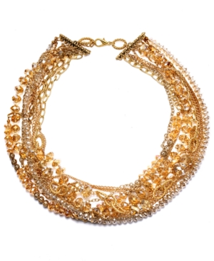 c.A.K.e. by Ali Khan Necklace, Champagne Beaded Collar Necklace