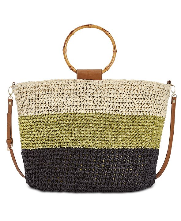INC International Concepts I.N.C. Willoww Stripe Colorblock Tote, Created for Macy's