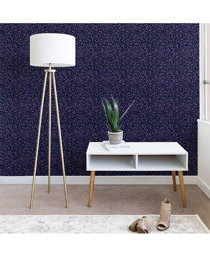 Deny Designs - Ninola Design Cosmic Circles Ultraviolet Dots Bubbles wallpaper