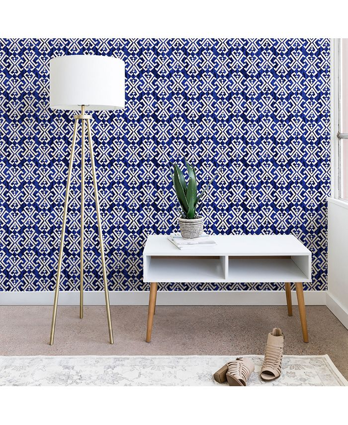 Deny Designs - Schatzi Brown Justina Criss Cross Blue wallpaper